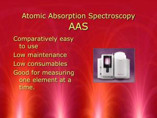 Atomic Absorption Spectroscopy AAS