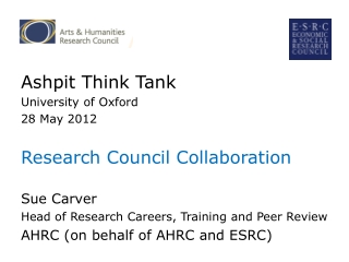 AHRC Review of Postgraduate Funding I