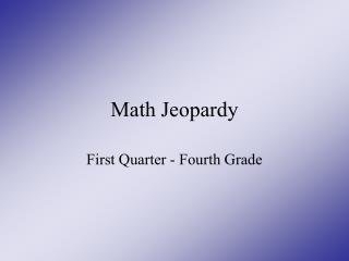 Math Jeopardy