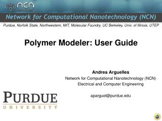 Polymer Modeler: User Guide