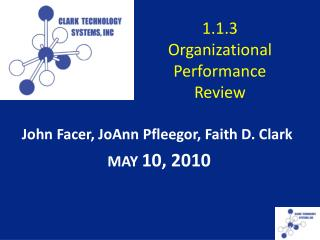 1.1.3  Organizational  Performance Review