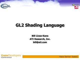 GL2 Shading Language