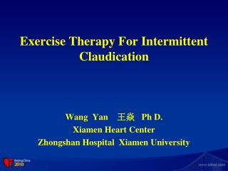 Exercise Therapy For Intermittent Claudication