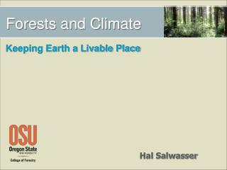 Forests and Climate