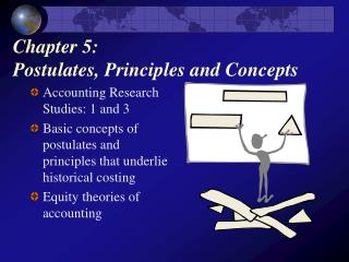 Chapter 5:  Postulates, Principles and Concepts