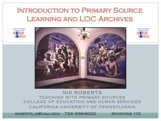 Introduction to Primary Source Learning and LOC Archives