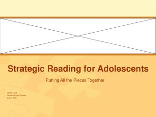 Strategic Reading for Adolescents