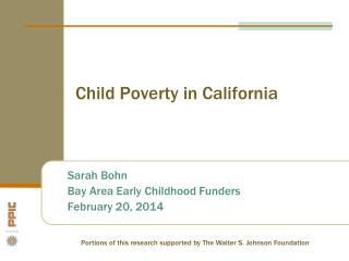 Child Poverty in California