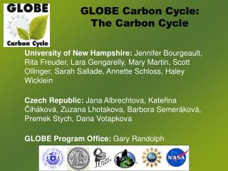 GLOBE Carbon Cycle:  The Carbon Cycle