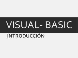VISUAL- BASIC