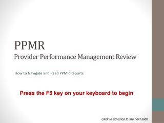 PPMR  Provider Performance Management Review