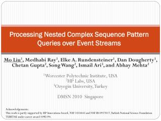 Processing Nested Complex Sequence Pattern Queries over Event Streams