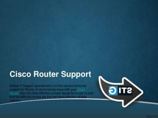 Technical Support For Cisco® Router | 888-465-3415