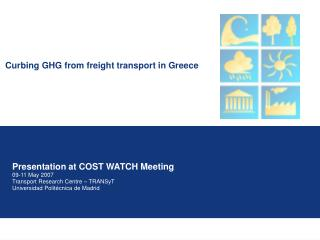 Curbing GHG from freight transport in Greece