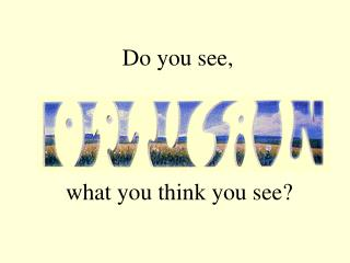 Do you see,