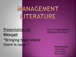 Management Literature