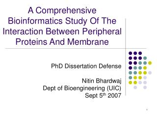 A Comprehensive Bioinformatics Study Of The Interaction Between Peripheral Proteins And Membrane