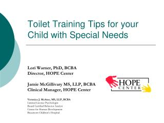 Toilet Training Tips for your Child with Special Needs