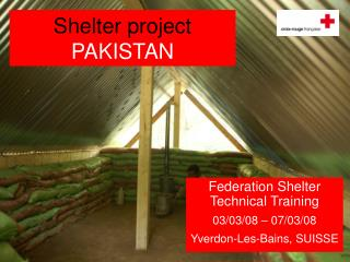 Shelter project  PAKISTAN