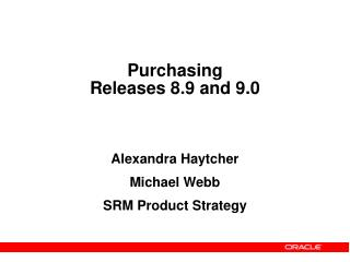 Purchasing Releases 8.9 and 9.0