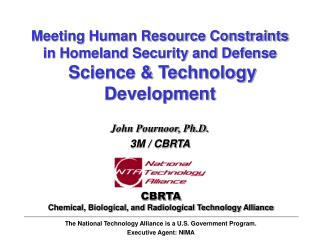 Meeting Human Resource Constraints in Homeland Security and Defense  Science & Technology Development
