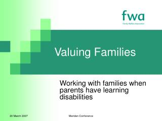 Valuing Families