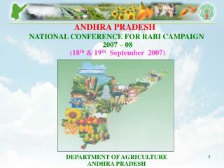 NATIONAL CONFERENCE FOR RABI CAMPAIGN   2007 – 08  (18 th  & 19 th   September  2007)