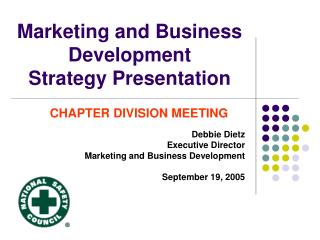 Marketing and Business Development Strategy Presentation