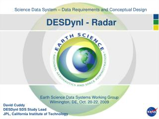 Science Data System – Data Requirements and Conceptual Design DESDynI - Radar