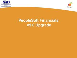 PeopleSoft Financials  v9.0 Upgrade