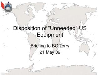 "Disposition of ""Unneeded"" US Equipment"