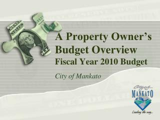 A Property Owner's Budget Overview Fiscal Year 2010 Budget
