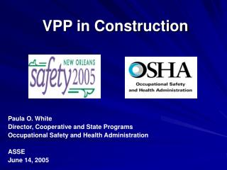 VPP in Construction