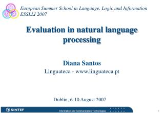 Evaluation in natural language processing
