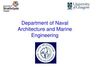 Department of Naval Architecture and Marine Engineering