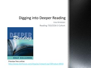 Digging into Deeper Reading