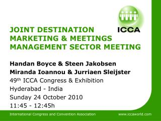 JOINT DESTINATION MARKETING & MEETINGS MANAGEMENT SECTOR MEETING