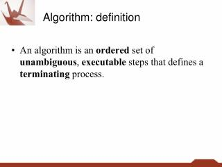 Algorithm: definition