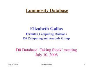 Luminosity Database