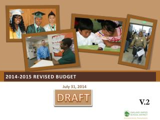 2014-2015  ReVised  budget