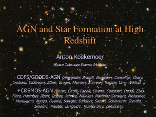 AGN and Star Formation at High Redshift
