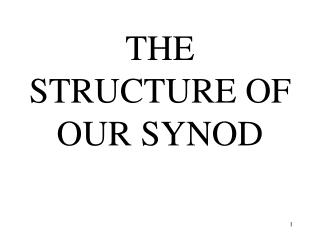 THE STRUCTURE OF OUR SYNOD