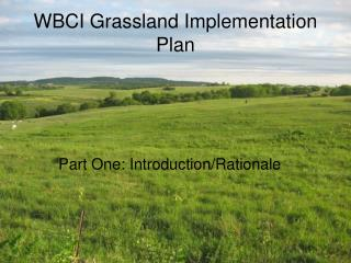 WBCI Grassland Implementation Plan