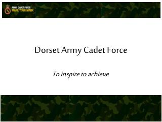 Dorset Army Cadet Force