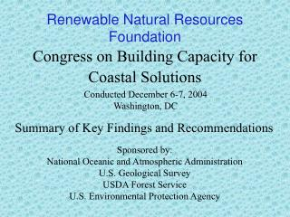 Congress on Building Capacity for Coastal Solutions