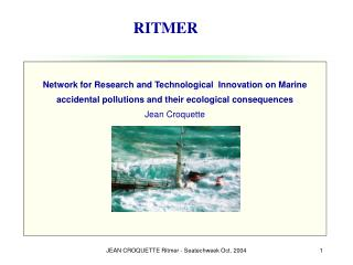 Network for Research and Technological  Innovation on Marine