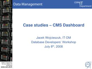 Case studies –  CMS Dashboard