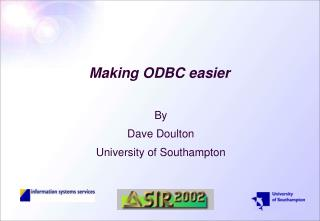 Making ODBC easier