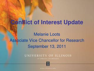 Conflict of Interest Update