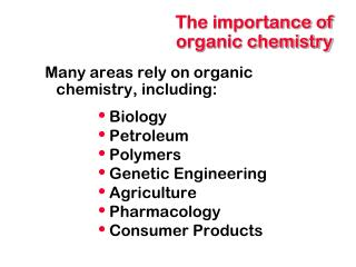 The importance of organic chemistry
